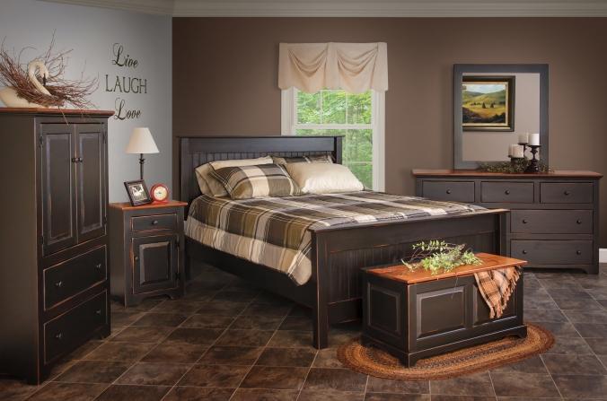 Panel-Bed-Solid-Wood-Bedroom-Suite-Dreamland-Mattress-Furniture