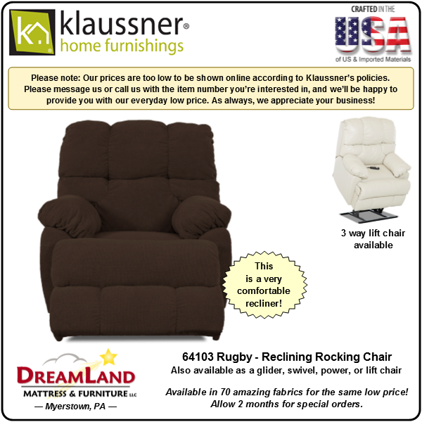 Dreamland Mattress Furniture Store Lebanon PA Recliner 64103 Rugby 4