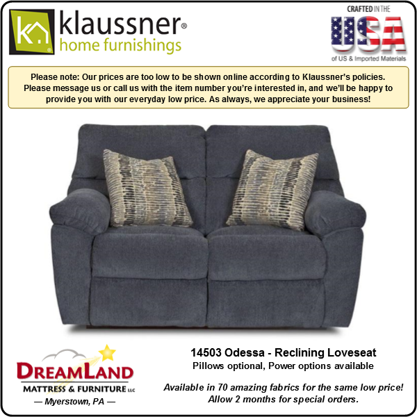Dreamland Mattress Furniture Store Lebanon PA Reclining Loveseat 14503 Odessa 2