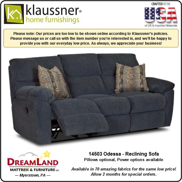 Dreamland Mattress Furniture Store Lebanon PA Reclining Sofa 14503 Odessa 1