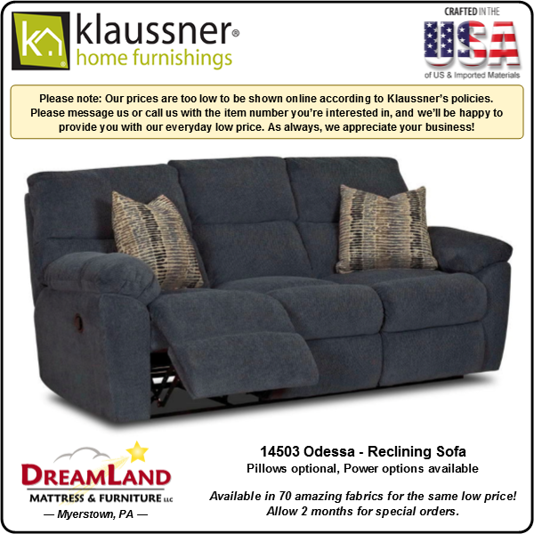 Dreamland Mattress Furniture Store Lebanon PA Reclining Sofa 14503 Odessa 1