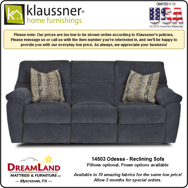 Dreamland Mattress Furniture Store Lebanon PA Reclining Sofa 14503 Odessa 2