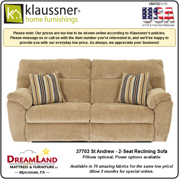 Dreamland Mattress Furniture Store Lebanon PA Reclining Sofa 37703 St Andrew 2