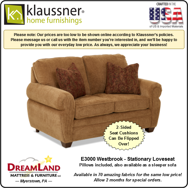 Dreamland Mattress Furniture Store Lebanon PA Stationary Loveseat E3000 Westbrook 1
