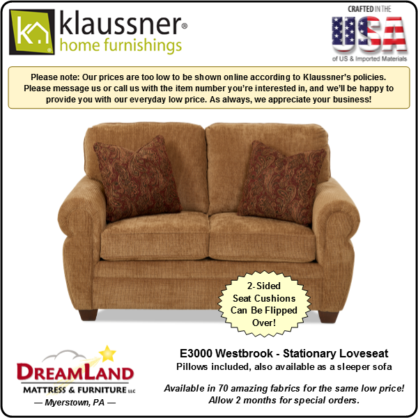 Dreamland Mattress Furniture Store Lebanon PA Stationary Loveseat E3000 Westbrook 2