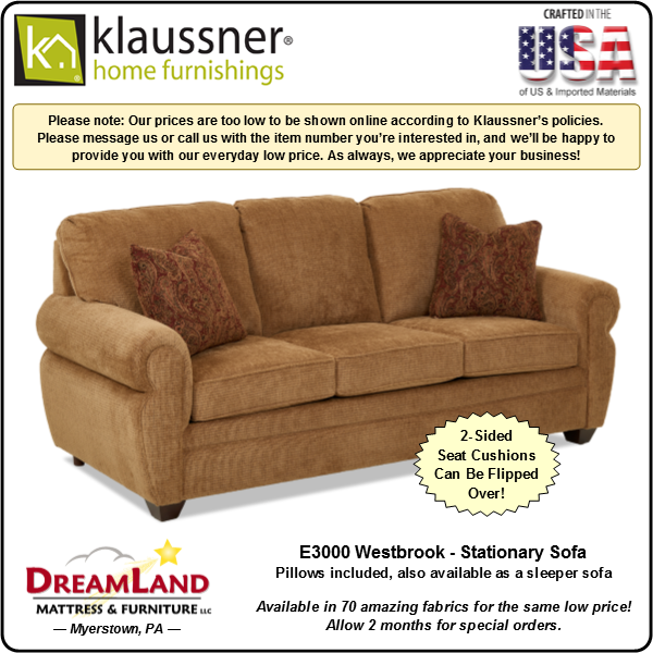 Dreamland Mattress Furniture Store Lebanon PA Stationary Sofa E3000 Westbrook 1