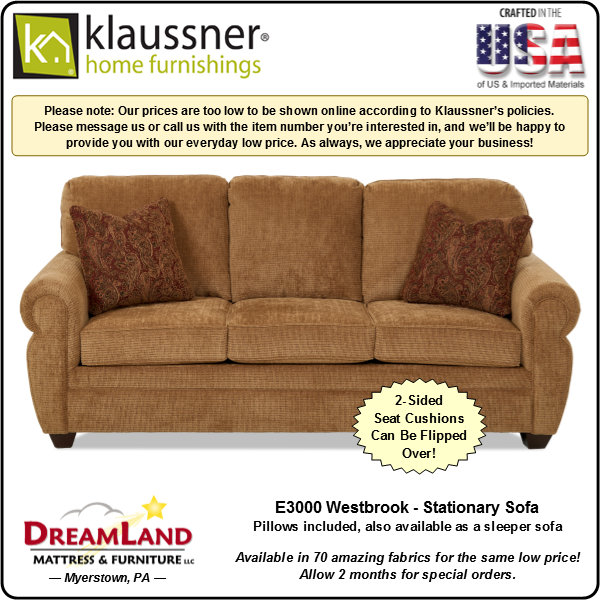Dreamland Mattress Furniture Store Lebanon PA Stationary Sofa E3000 Westbrook 2